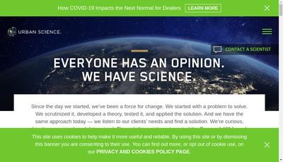 Site internet de Urban Science France