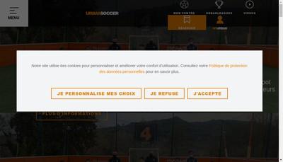 Site internet de Urbansoccer Services