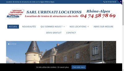 Site internet de SARL Locations Urbinati
