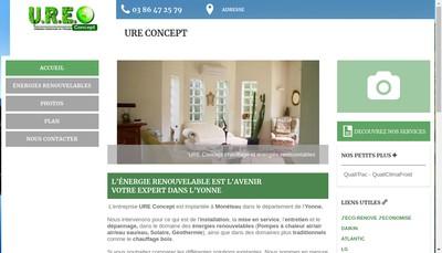 Site internet de Ure Concept