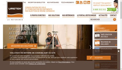 Site internet de Uretek Travaux