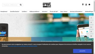 Site internet de Urmet France
