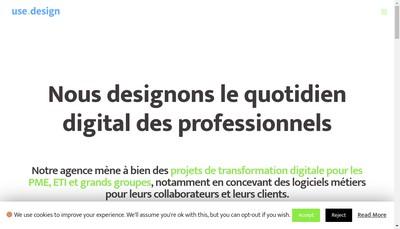 Site internet de Use Design