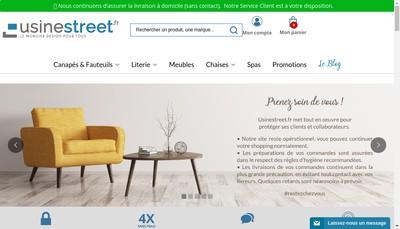 Site internet de Usinestreet