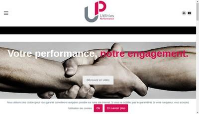 Site internet de Utilities Performance - Up