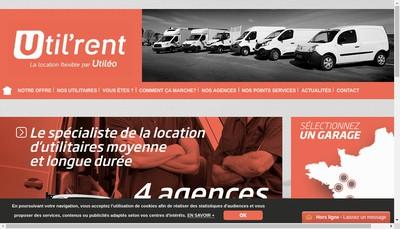 Site internet de Utileo Location
