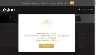 Site internet de U Wine