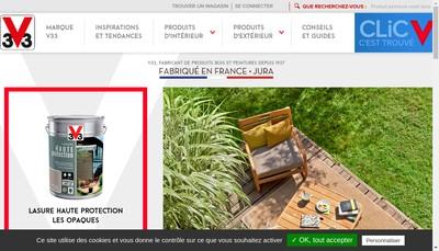 Site internet de V 33 SA