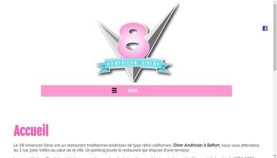 Site internet de V8 American Diner