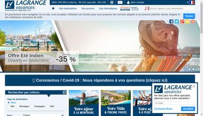 Site internet de Lagrange Entreprise