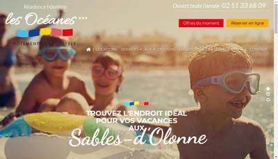 Site internet de Residence les Oceanes