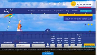 Site internet de Vacances Ulvf