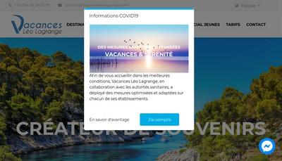 Site internet de Vacances Tourisme Loisirs Leo Lagrange