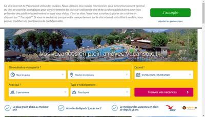 Site internet de Vacansoleil