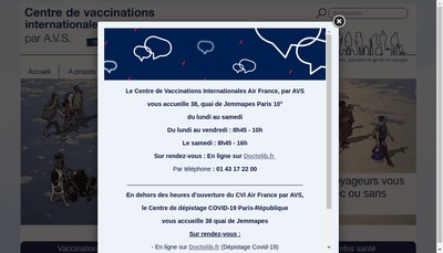 Site internet de Voyage et Sante