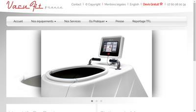 Site internet de Vacufit France