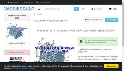 Site internet de Vagdiscount