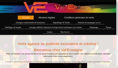 Site internet de Val'Enseigne
