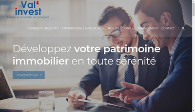 Site internet de Val'Invest