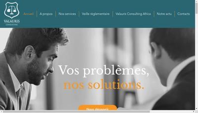 Site internet de Valauris Consulting