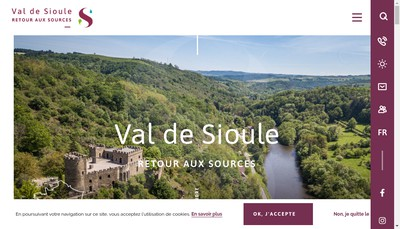 Site internet de Office de Tourisme Val de Sioule