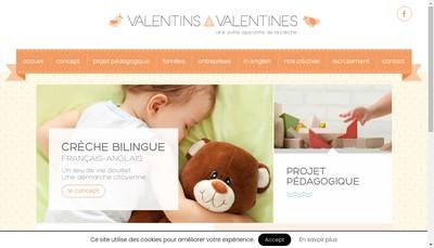 Site internet de Valentins & Valentines