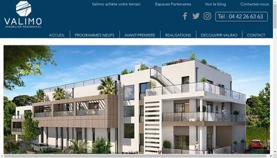 Site internet de Valimo Immobilier Residentiel