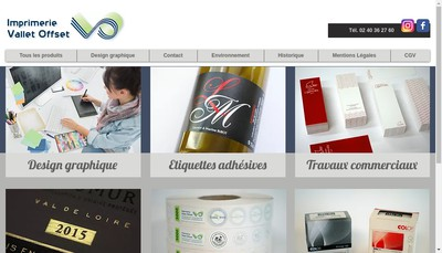 Site internet de Imprimerie Vallet Offset