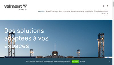 Site internet de Valmont France