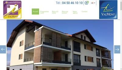Site internet de L'Immobiliere de Valmont