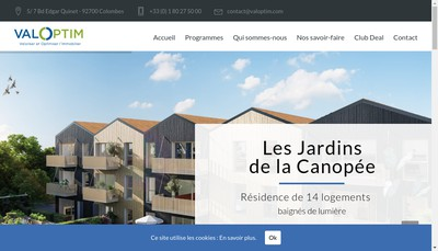 Site internet de Eri - Etude Recherche Immobiliere