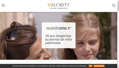 Site internet de Valority