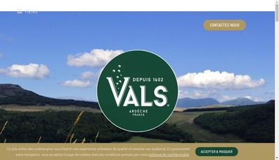 Site internet de Societe des Eaux Minerales de Vals