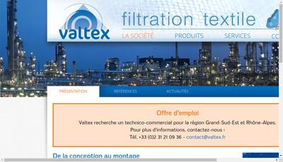 Site internet de SARL Valtex