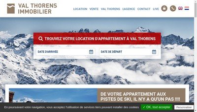 Site internet de Val Thorens Immobilier