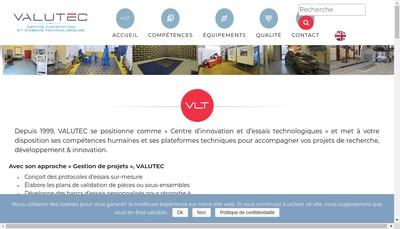 Site internet de Valutec