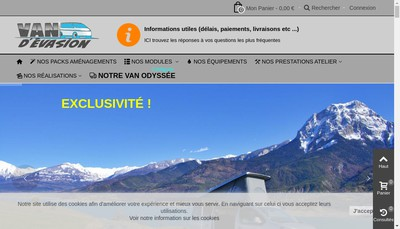 Site internet de Van d'Evasion