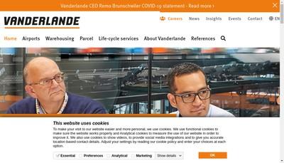Site internet de Vanderlande Industries France