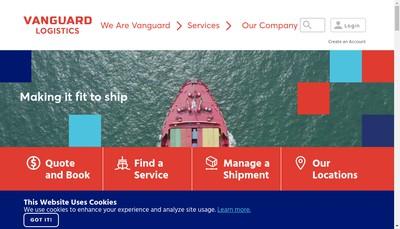 Site internet de Vanguard Logistics Services France
