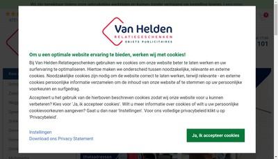 Site internet de Etablissements Van Helden