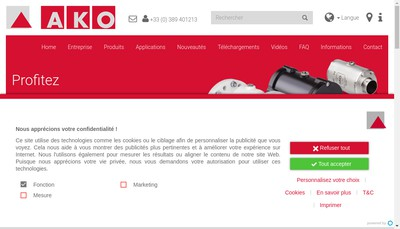 Site internet de Ako Innovations SAS
