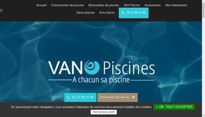 Site internet de Vano-Piscines