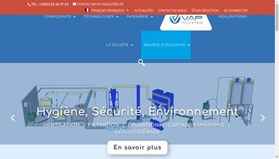 Site internet de Vap Industrie (Vrac Assistance Process Industrie)