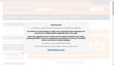 Site internet de Vapo-Chic Com