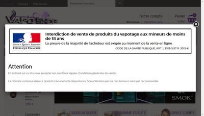 Site internet de Vapo Shop
