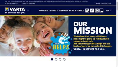 Site internet de Varta Consumer France SAS