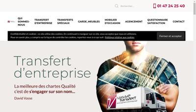 Site internet de Vasse Transfert