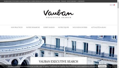 Site internet de Vauban Conseil