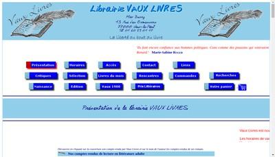 Site internet de Vaux Livres