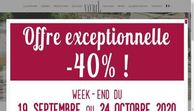 Site internet de Vavril Vins & Evenements Exclusifs